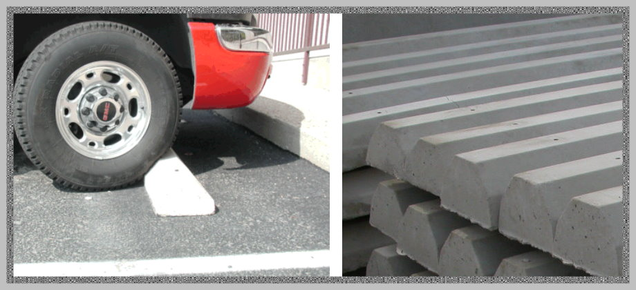 Concrete  Car Wheel Stops