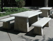 #1 Rectangular Table & Benches