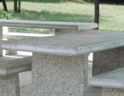 #10 Tables & Benches With Exposed Aggregate Legs