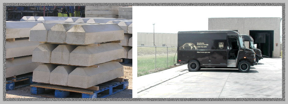 Precast Concrete Wheel Stops : Precast truck wheel stops of texas